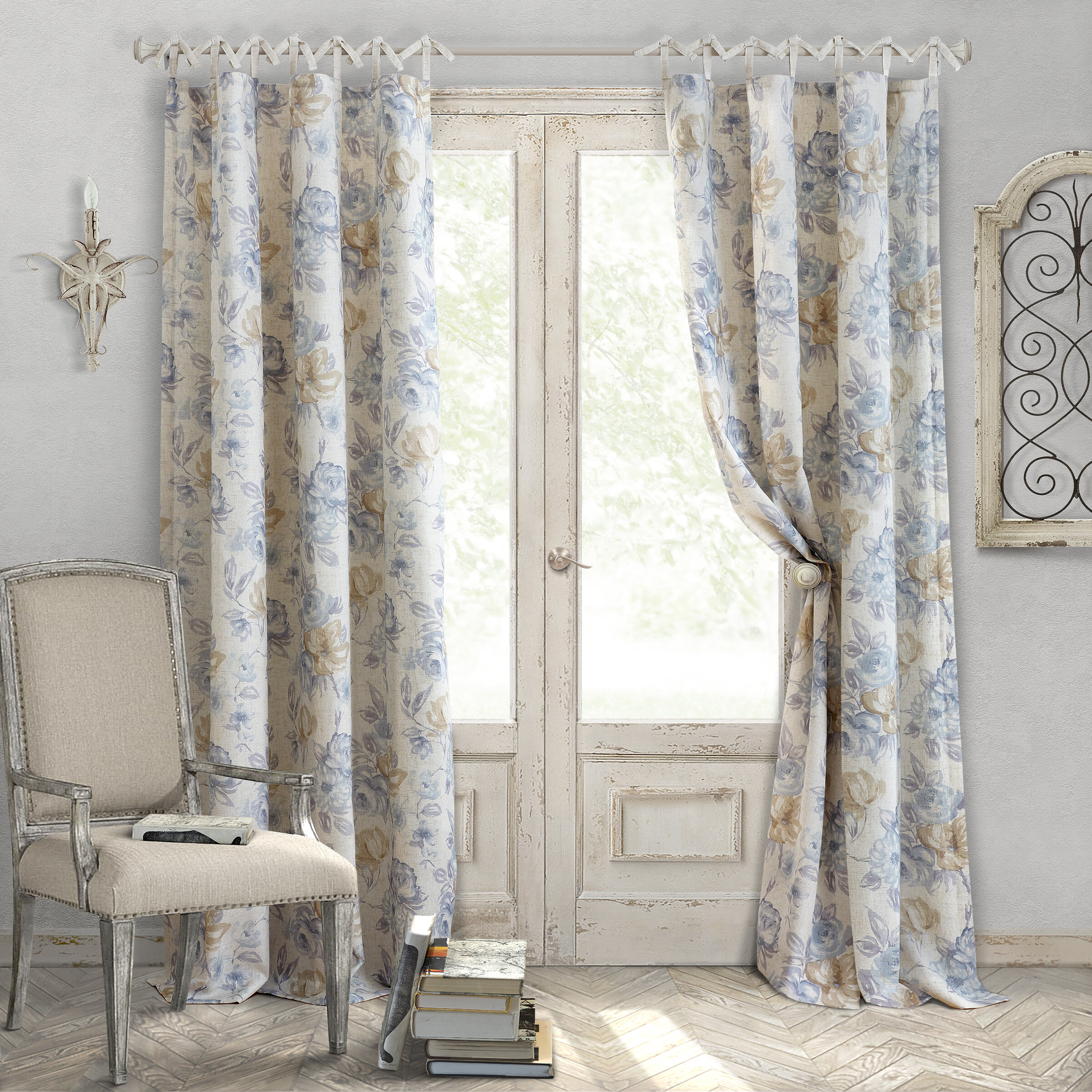 linen french style rustic drapes il curtain fullxfull white panel listing natural tie zoom top