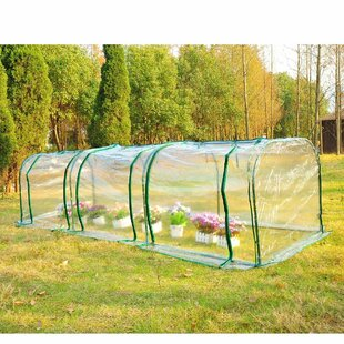3m W X 1m D Poly Tunnel Greenhouse