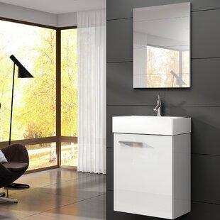Tiny 18 Single Bathroom Vanity With Mirror