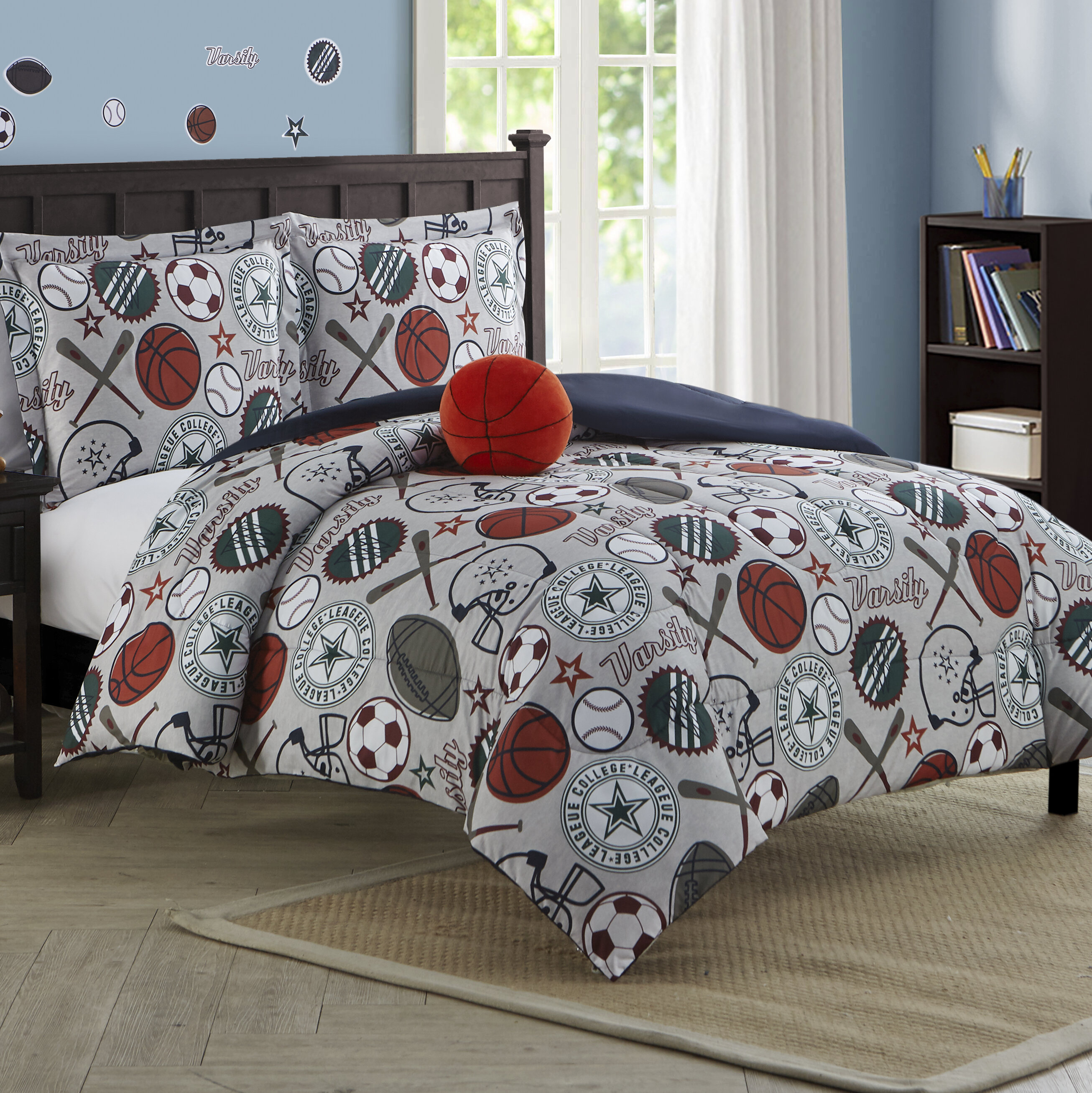 sports boy and sets masculine team football best ideas decor nice trendy full within uncategorized image bedroom of comforters with luxury size on comforter boys bedding for bedspreads