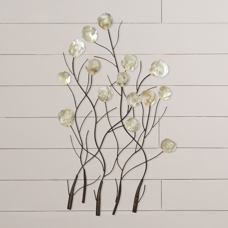 Twig Wall Decor christianne capiz wall decor & reviews | joss & main