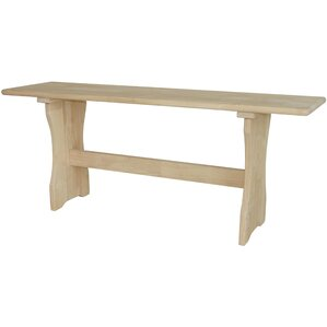 Trestle Wood Bench by International Co..