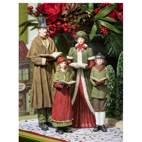 set of 4 christmas carolers wayfair