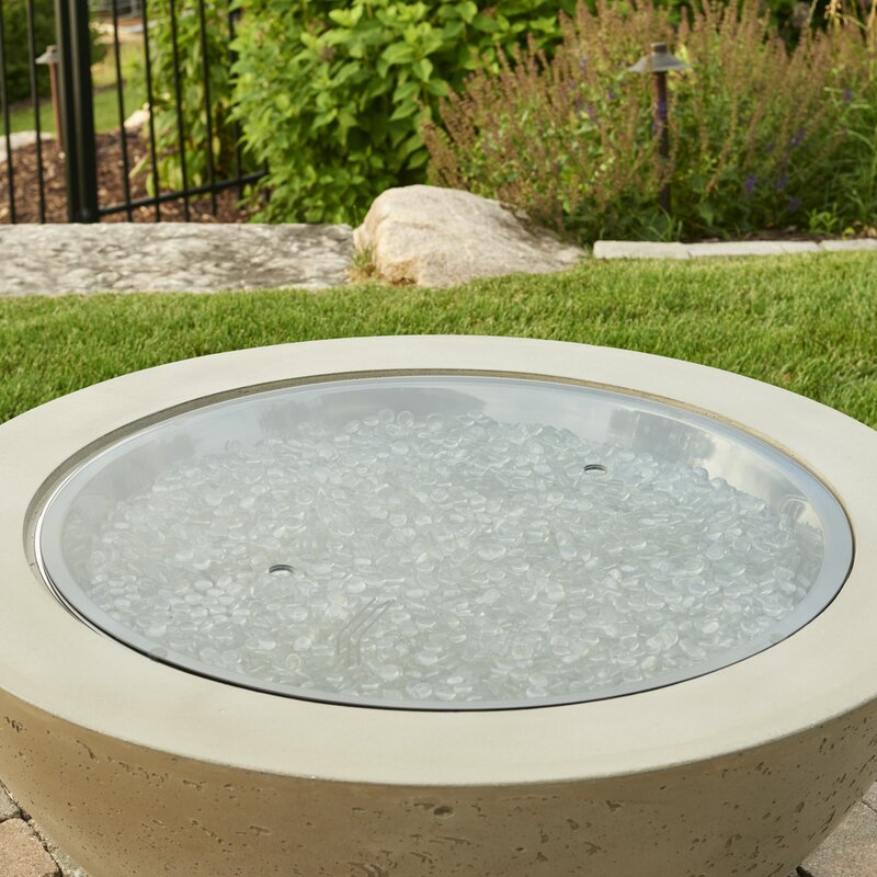 Crystal Fire Burner Round Fire Pit Center Disc - The Outdoor GreatRoom Company Crystal Fire Burner Round Fire Pit