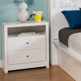 Tidworth Tall 2 Drawer Nightstand