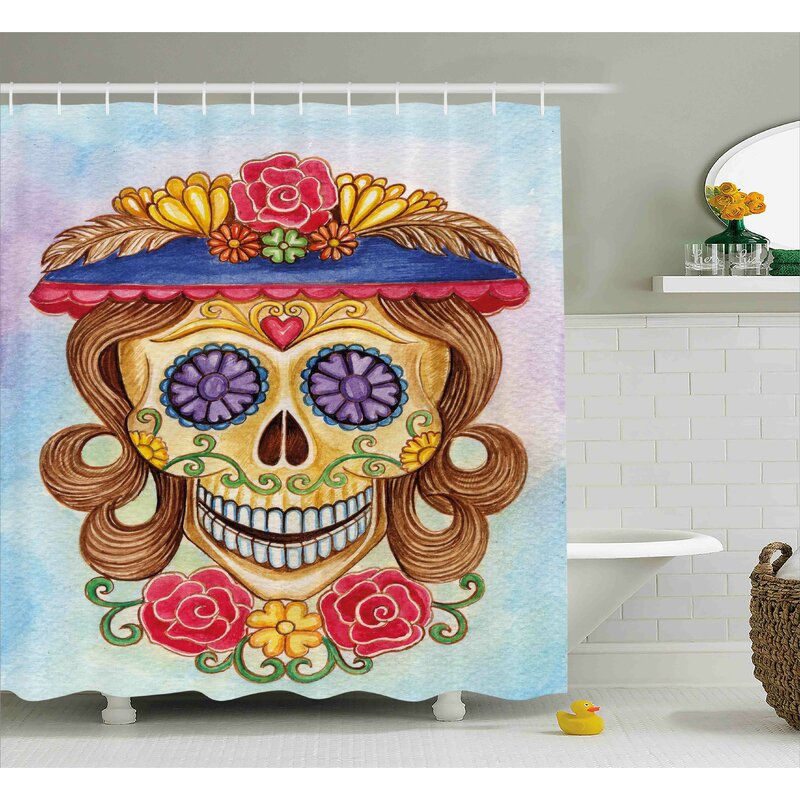 Liliana Day Of The Dead Cute Lady Mommy Skull Head With Flower Hat Spanish Mexican Art