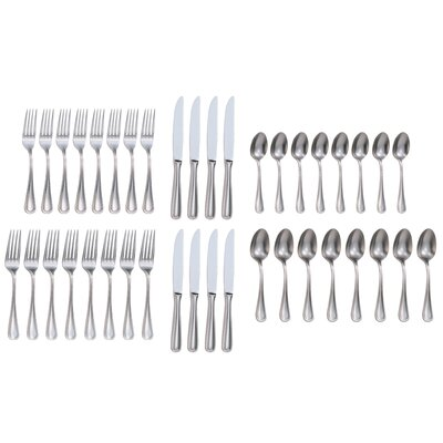 Charlton Home Rybicki 40 Piece 18/10 Stainless Steel Flatware Set, Service for 8