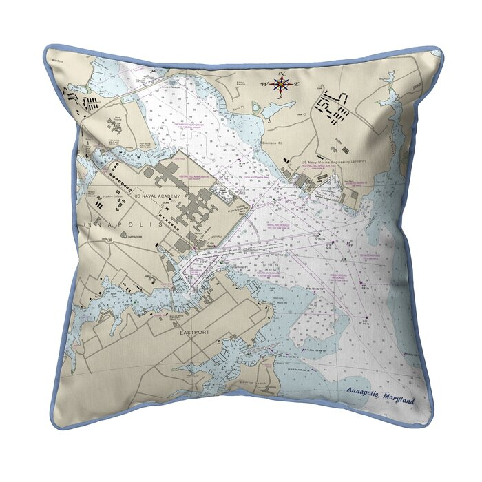 Charlton Home Skelmersdale Map Extra Large Zippered Indoor Outdoor