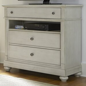 Saguenay 3 Drawer Media Chest by Lark Manor