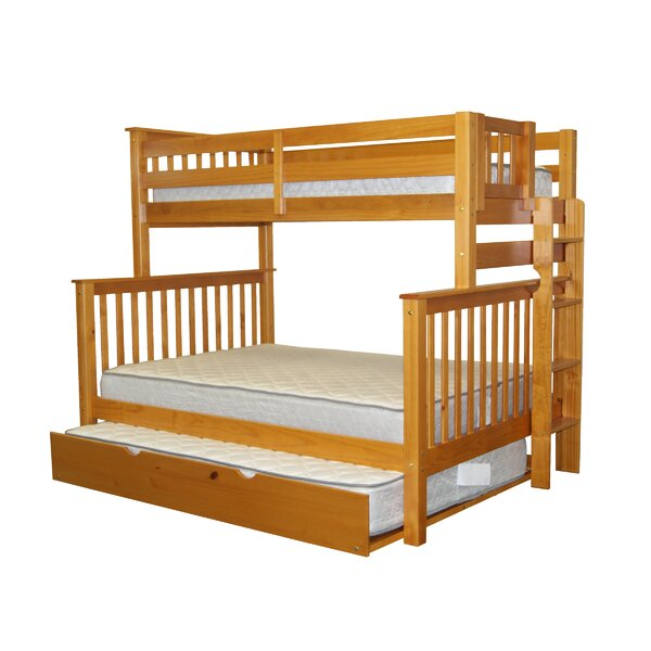 Full Bunk Bed With Trundle Part - 24: Bedz King Mission Twin Over Full Bunk Bed With Full Trundle U0026 Reviews    Wayfair