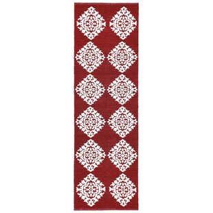 Low priced Jacquard Hand-Woven Red Area Rug BySt. Croix