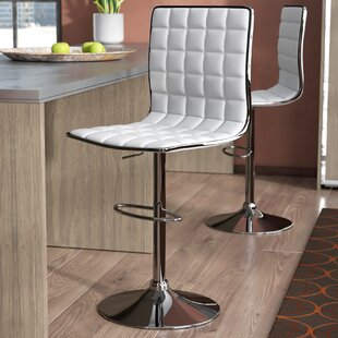 Iancarlo Adjustable Height Bar Stool (Set of 2)