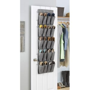 Whitmor 20-Pocket 10 Pair Overdoor Shoe Organizer