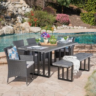 Genial Younes Outdoor 6 Piece Dining Set With Cushions