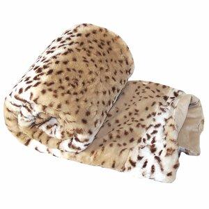 Natural Animal Faux Fur Throw Blanket
