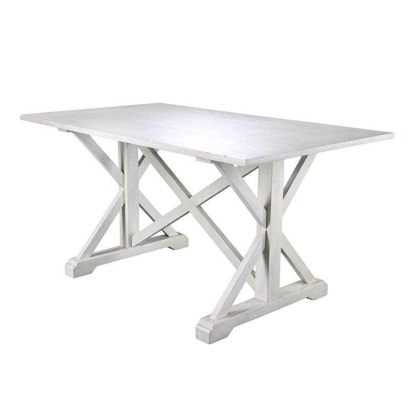 Roeper Distressed Farmhouse Dining Table & Reviews