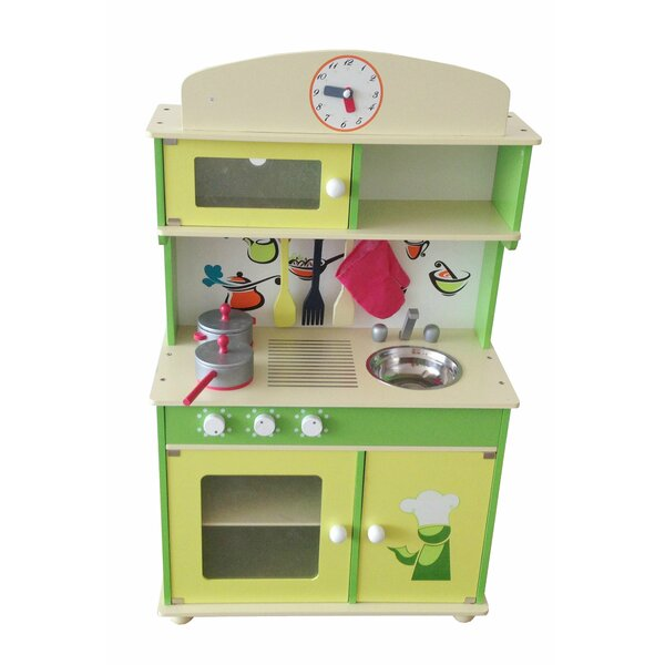 berry toys my cute wooden play kitchen & reviews | wayfair