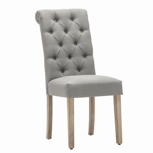 Perfect Christies Roll Top Tufted Modern Upholstered Dining Chair (Set Of 2)
