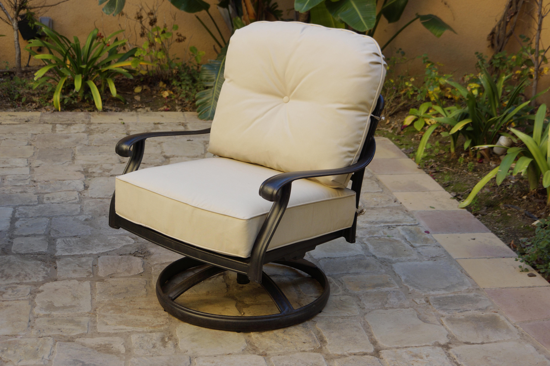 Canora Grey Shofner Rocker Swivel Patio Chair With Cushions Wayfair
