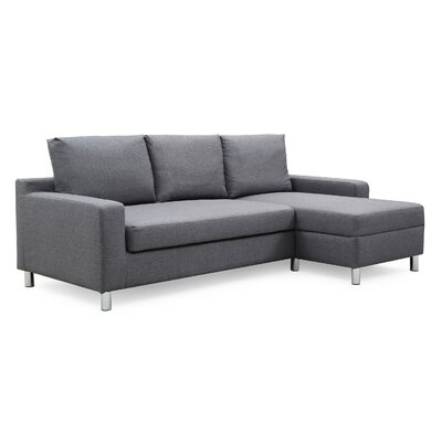 Wrought Studio Falgoust Sectional Upholstery Color: Dark Gray, Orientation: Right Hand Facing