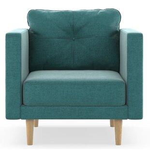 Cozad Mod Velvet Armchair