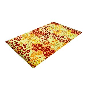 Ebi Emporium Circular Persuasian Yellow/Brown Area Rug