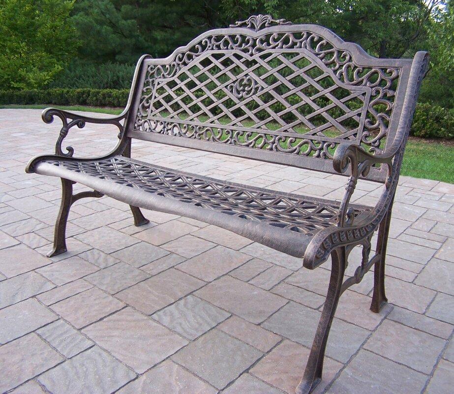 Charming Mississippi Aluminum Garden Bench