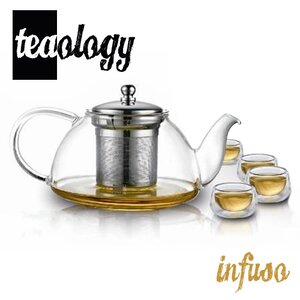 Teaology 5 Piece Borosilicate Infusion Tea Set