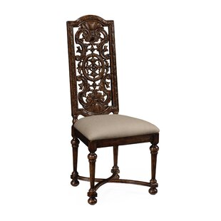 Pierced Back Solid Wood Dining Chair