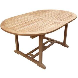 Oval Teak Tables Youll Love Wayfair - Teak oval extending table