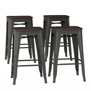 Olivarez Metal 24 Bar Stool (Set of 4)