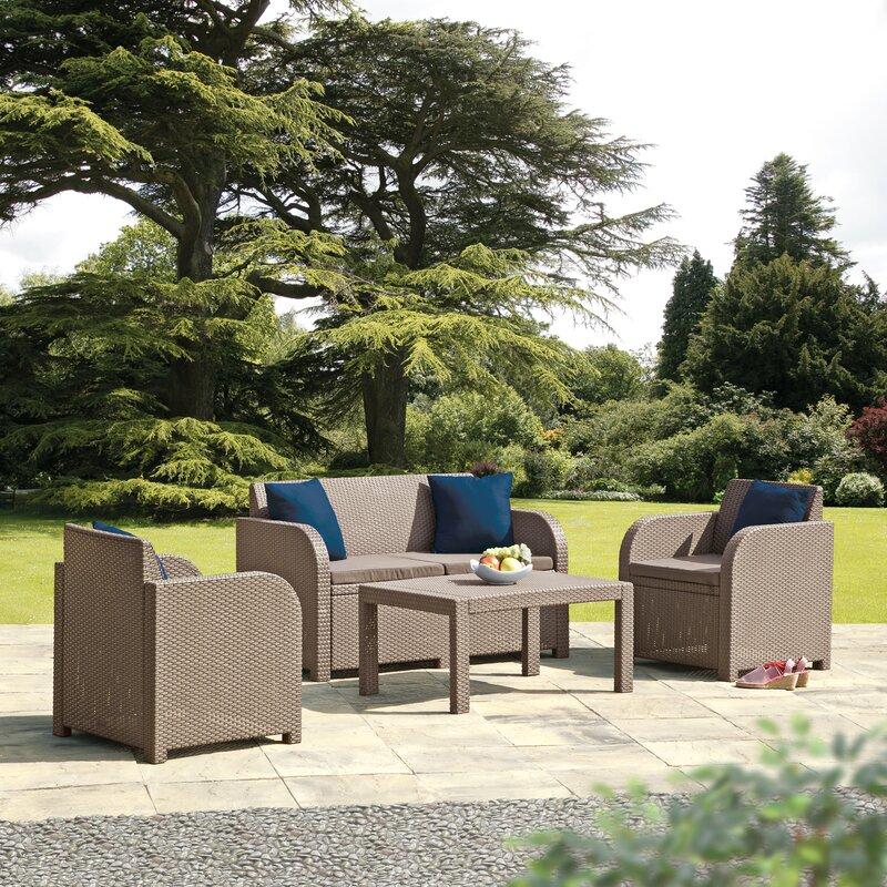 SunTime Outdoor Living Oklahoma 4 Piece Sofa Seating Group ... on Suntime Outdoor Living id=96030