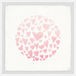Crumb Pink Circle Hearts Framed Art by Zoomie Kids