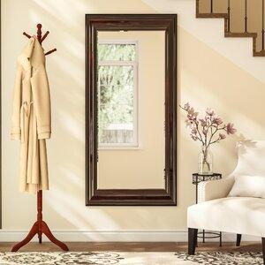 Classy Walnut Beveled Wall Mirror