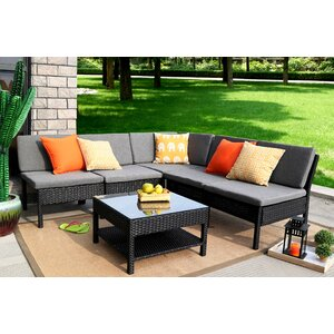 Spiaggia 6 Piece Sectional Seating Group With Cushion