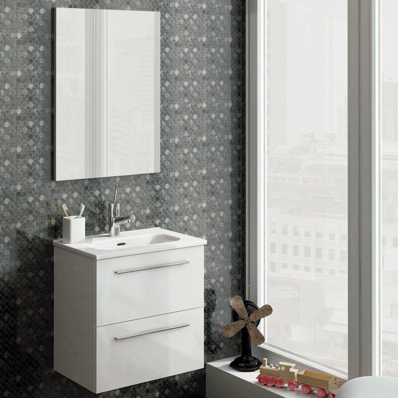"Freetown 20"" Single Bathroom Vanity with Mirror"