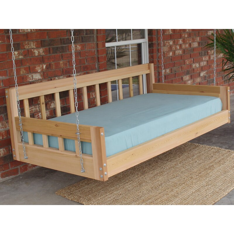 Tharp Cedar American Style Hanging Daybed Swing