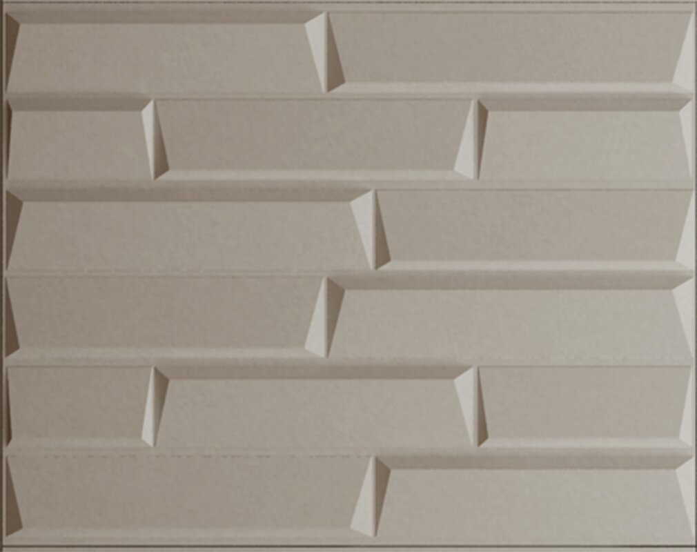 ThreeDwall 314 X 246 Paintable Brick 3D Embossed 3 Piece Panel