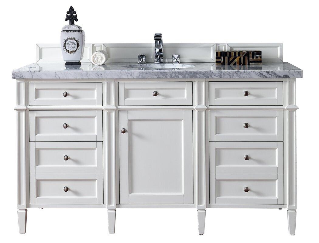 "60 Inch White Vanity Base james martin furniture brittany 60"" single bathroom vanity base"