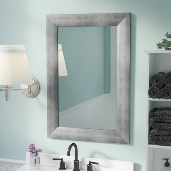 Wayfair Bathroom Vanity >> Rosecliff Heights Rectangle Muted Cool Wall Mirror & Reviews | Wayfair