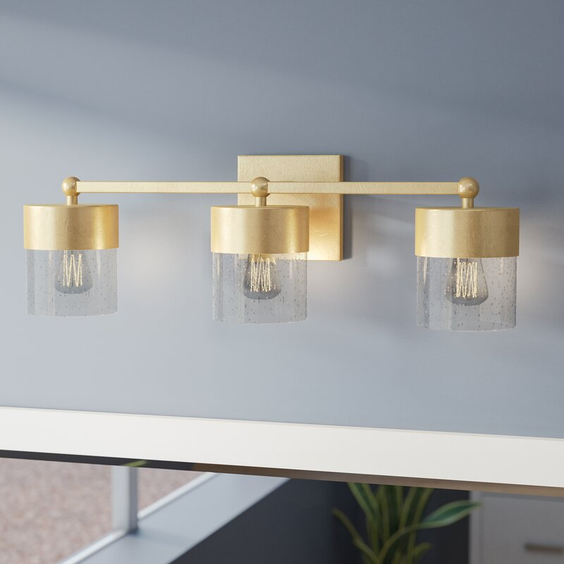 Mercury Row Depaz 3-Light LED Vanity Light with Clear Seeded Glass ...