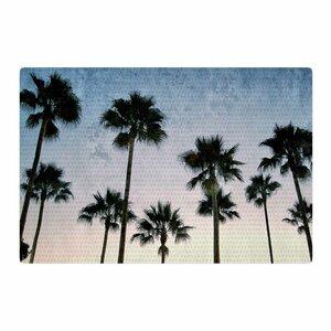Richard Casillas Paradise Palms Blue/Pink Area Rug
