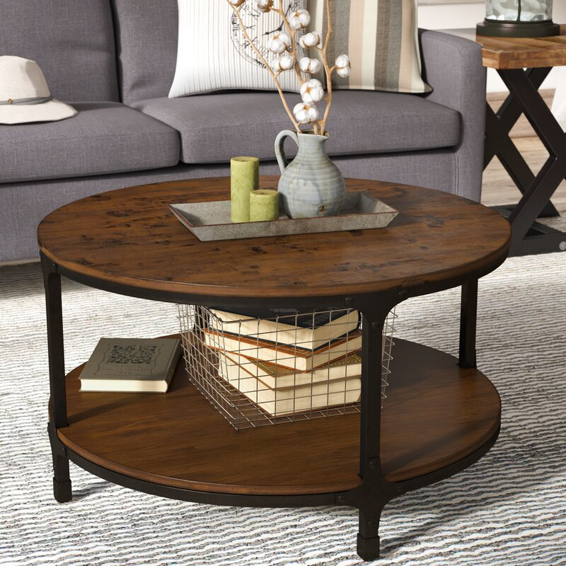 Modern Round Wooden Coffee Table 110: Laurel Foundry Modern Farmhouse Carolyn Coffee Table