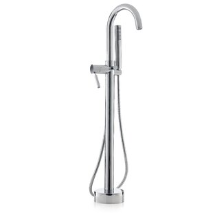 Single Handle Floor Mounted Freestanding Tub Filler With Hand Shower. By  Cheviot Products
