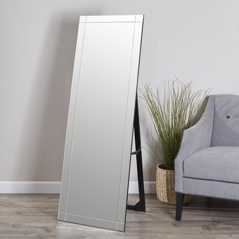 Brayden Studio Standing Floor Mirror & Reviews   Wayfair