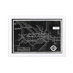 Subway Map Wall Art Wall Art Stickers Wall Decal Huge Underground Tube Map.London Underground Wall Art Wayfair