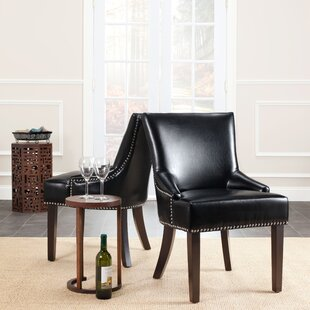 York Bycast Leather Upholstered Dining Chair (Set of 2)
