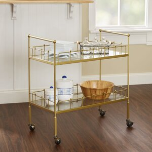 Vadnais 2-Tier Rectangular Bar Cart