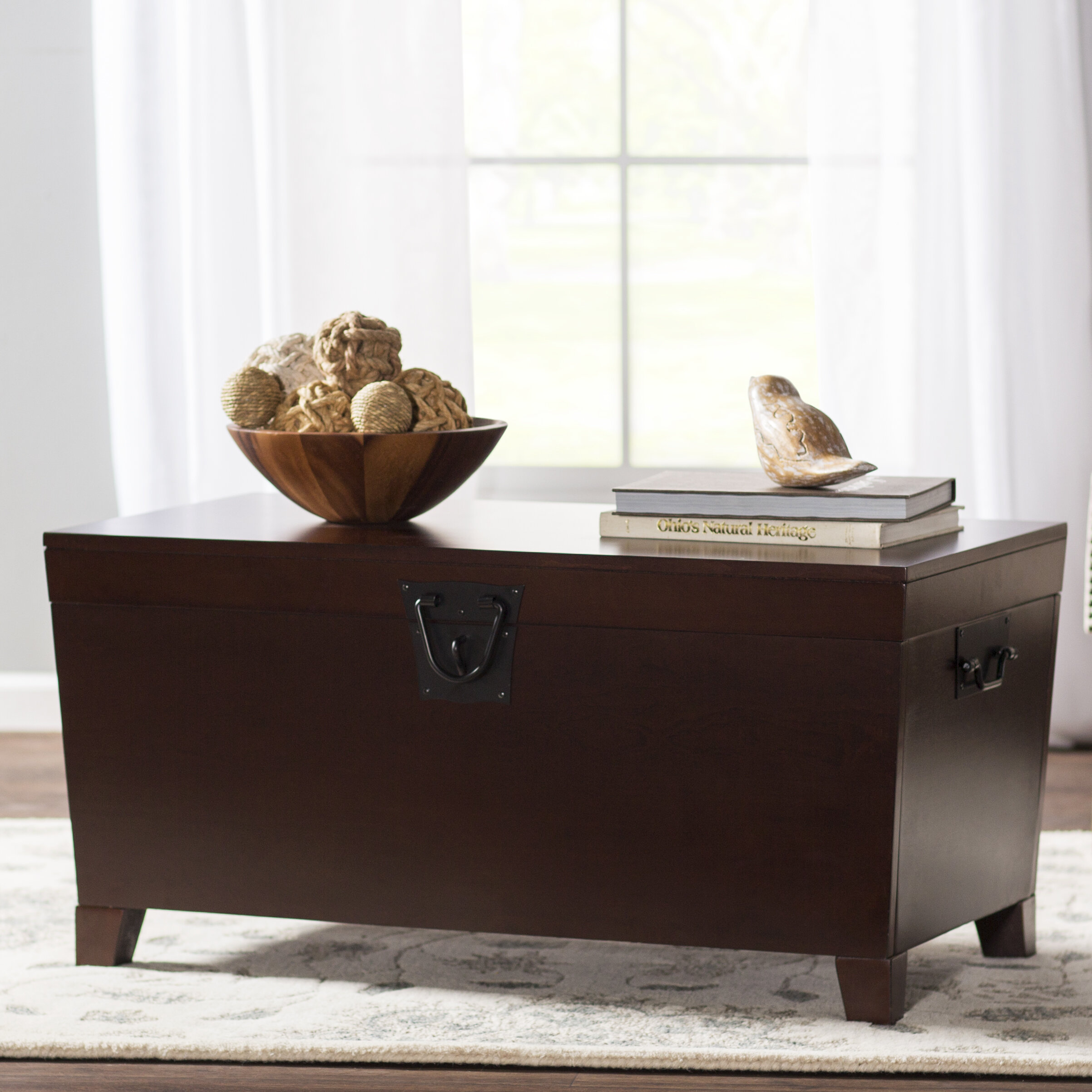 Beige Trunk Coffee Table: Charlton Home Bischoptree Storage Trunk Coffee Table