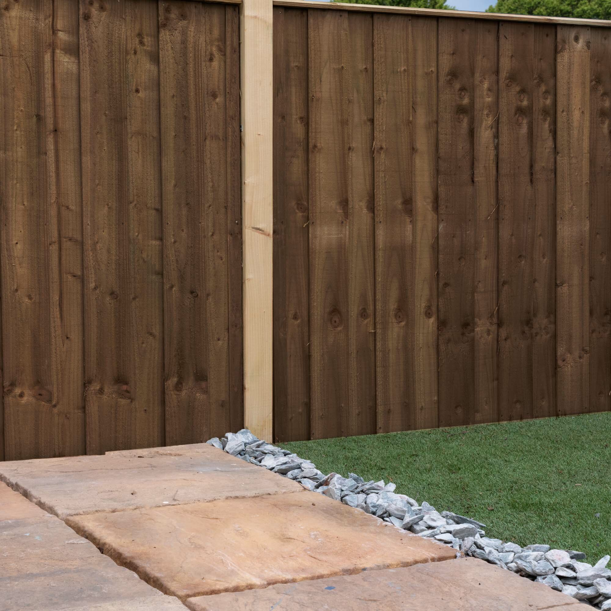 6' x 4' (1 82m x 1 22m) Hit and Miss Fence Panel
